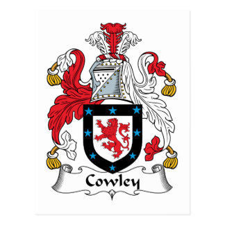Escudo de la familia de Cowley Tarjeta Postal