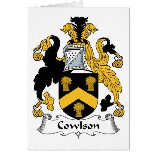Escudo de la familia de Cowlson Tarjetas