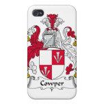 Escudo de la familia de Cowper iPhone 4 Carcasa