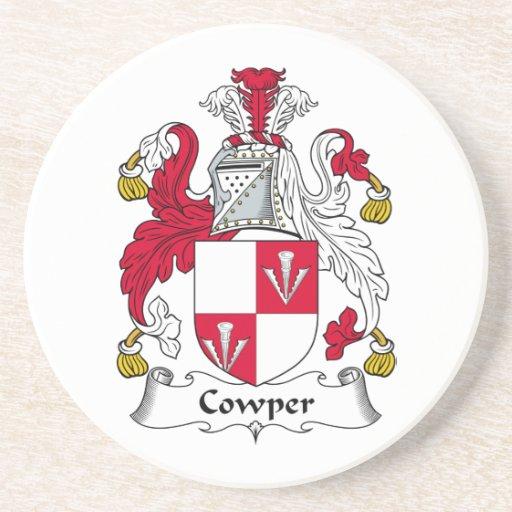 Escudo de la familia de Cowper Posavasos Diseño