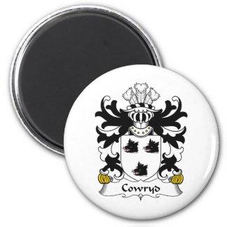 Escudo de la familia de Cowryd Imán Redondo 5 Cm