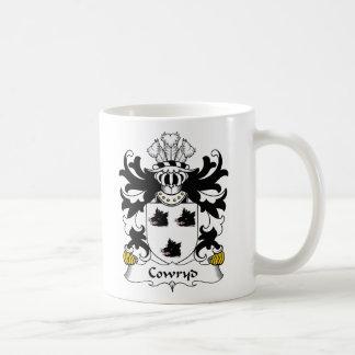 Escudo de la familia de Cowryd Taza Básica Blanca