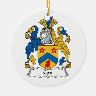Escudo de la familia de cox adorno para reyes