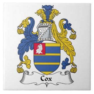 Escudo de la familia de $cox azulejo cuadrado grande