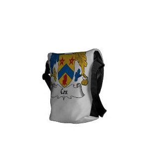 Escudo de la familia de cox bolsas de mensajeria
