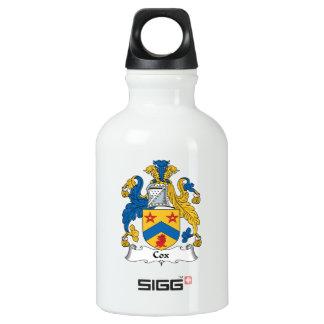 Escudo de la familia de $cox botella de agua
