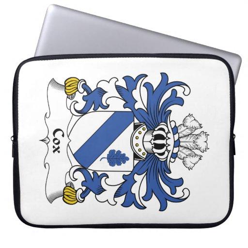 Escudo de la familia de $cox funda computadora