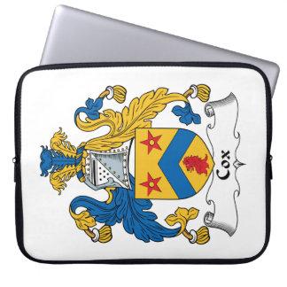 Escudo de la familia de cox funda computadora