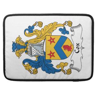 Escudo de la familia de cox fundas macbook pro