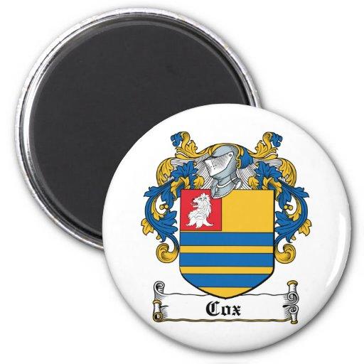 Escudo de la familia de $cox imán para frigorifico