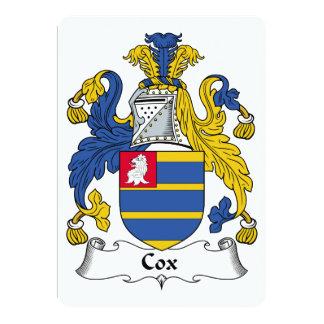 Escudo de la familia de $cox invitación 12,7 x 17,8 cm