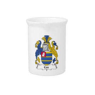 Escudo de la familia de $cox jarras