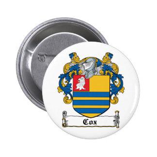 Escudo de la familia de $cox pin redondo 5 cm