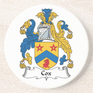 Escudo de la familia de cox posavasos manualidades