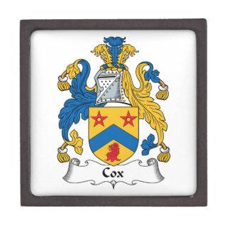 Escudo de la familia de cox cajas de regalo de calidad