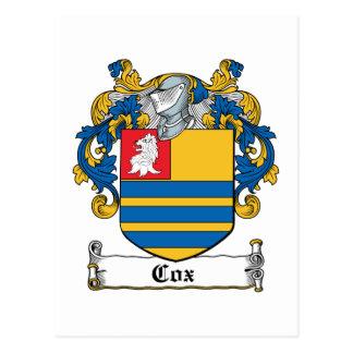 Escudo de la familia de $cox tarjeta postal