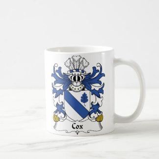Escudo de la familia de $cox taza de café