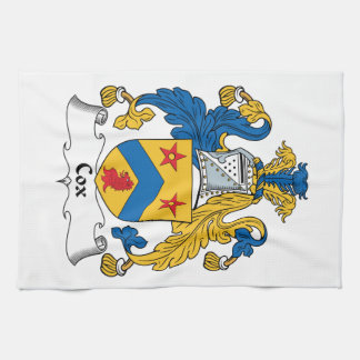 Escudo de la familia de cox toallas de mano