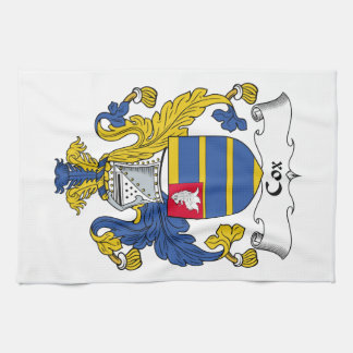 Escudo de la familia de $cox toallas de mano