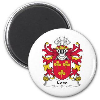Escudo de la familia de Coxe Imán Redondo 5 Cm