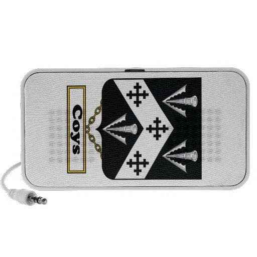 Escudo de la familia de Coys iPod Altavoz