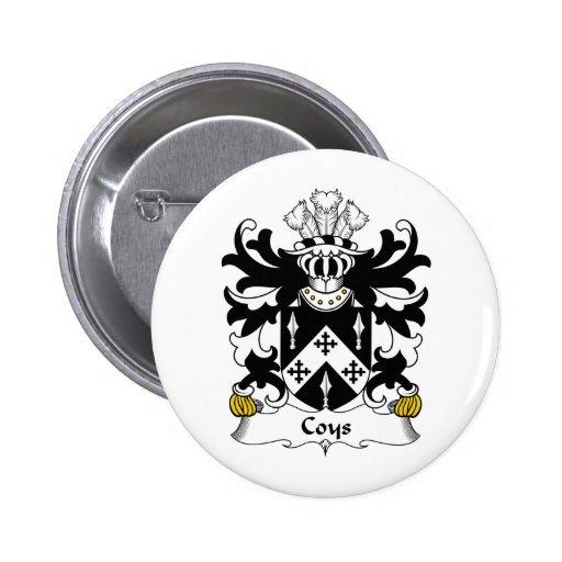Escudo de la familia de Coys Pin Redondo De 2 Pulgadas