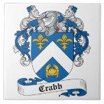 Escudo de la familia de Crabb Azulejos Ceramicos