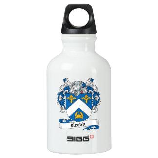 Escudo de la familia de Crabb Botella De Agua