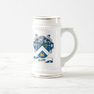 Escudo de la familia de Crabb Jarra De Cerveza