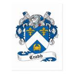 Escudo de la familia de Crabb Tarjeta Postal