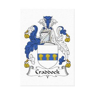 Escudo de la familia de Craddock Impresión En Lienzo Estirada