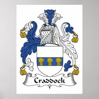 Escudo de la familia de Craddock Poster