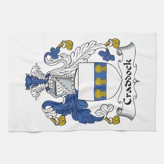 Escudo de la familia de Craddock Toalla
