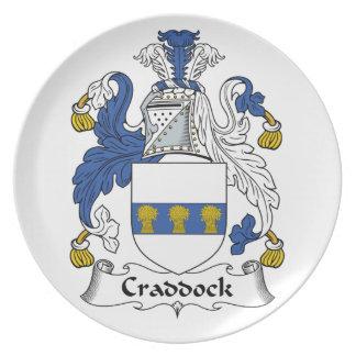 Escudo de la familia de Craddock Platos Para Fiestas