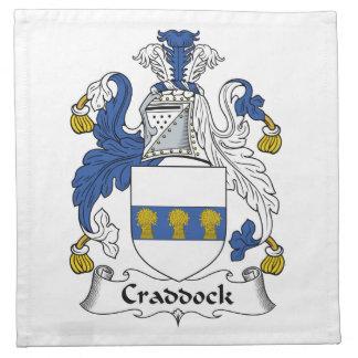 Escudo de la familia de Craddock Servilletas Imprimidas