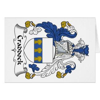 Escudo de la familia de Craddock Felicitacion