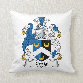 Escudo de la familia de Craig Almohadas