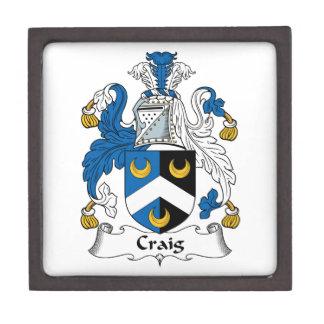 Escudo de la familia de Craig Caja De Regalo De Calidad