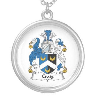 Escudo de la familia de Craig Pendiente Personalizado