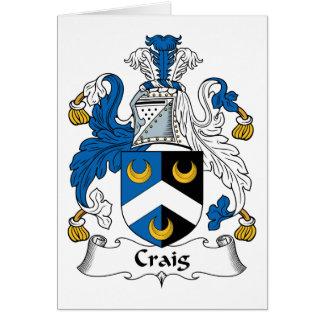 Escudo de la familia de Craig Felicitación
