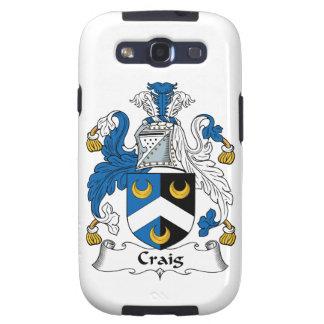 Escudo de la familia de Craig Galaxy S3 Coberturas