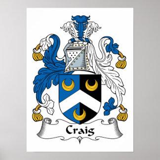Escudo de la familia de Craig Impresiones