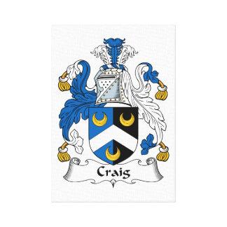 Escudo de la familia de Craig Lienzo Envuelto Para Galerías