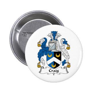 Escudo de la familia de Craig Pins