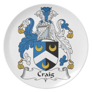 Escudo de la familia de Craig Plato De Cena