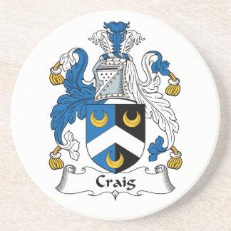 Escudo de la familia de Craig Posavaso Para Bebida