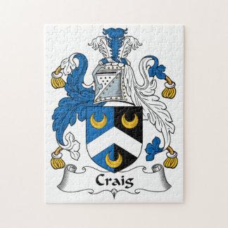 Escudo de la familia de Craig Puzzle