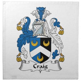 Escudo de la familia de Craig Servilleta De Papel