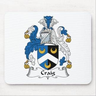 Escudo de la familia de Craig Alfombrillas De Ratón