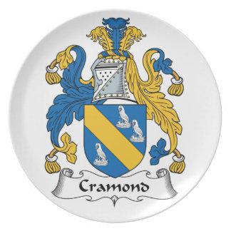 Escudo de la familia de Cramond Plato De Cena